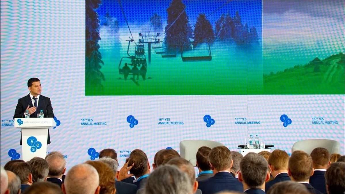 Новый курорт, парк развлечений и Украинский Голливуд: Зеленский заманивает инвесторов в Украину