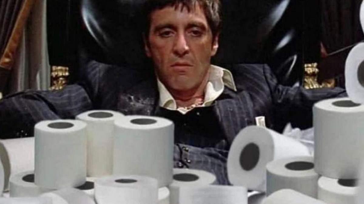 Туалетная бумага пользовалась спросом