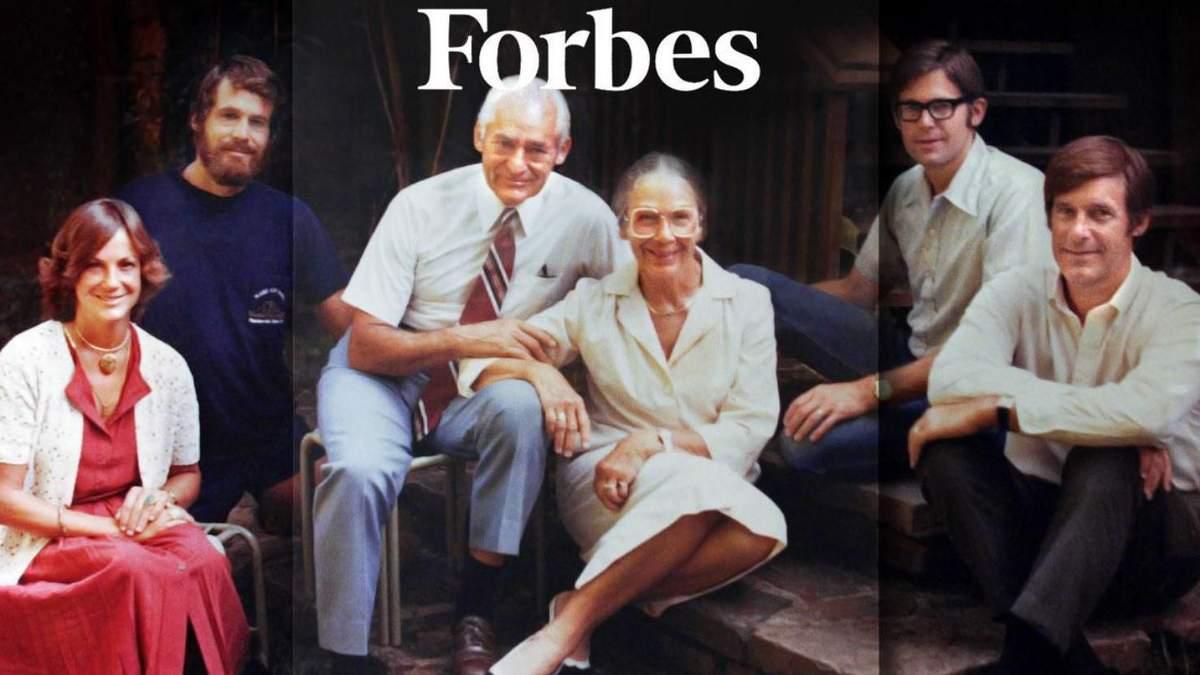 Forbes назвал самые богатые семьи США: фото и суммы их состояний